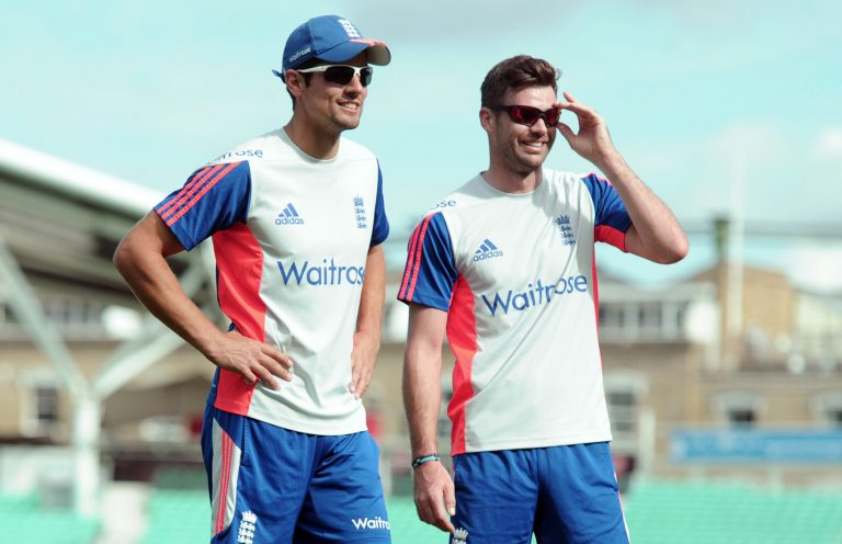 Sir Alastair Cook (left) and James Anderson (right) did the heavy lifting during a famous win at Eden Gardens.