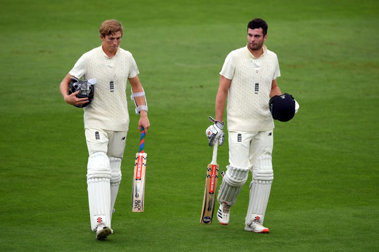 Zak Crawley (left) and Dom Sibley (right) are two of the batsmen Silverwood hopes can learn from their experience in India.