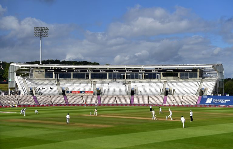 England take on Pakistan in a Test match at the Ageas Bowl last year