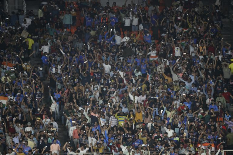 Ahmedabad's Narendra Modi Stadium held 67,000 and 66,000 spectators for the first two Twenty20 matches