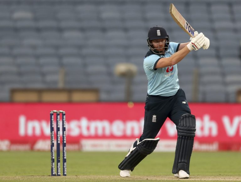 Jonny Bairstow struck 94 from only 66 balls (Rafiq Maqbool/AP)