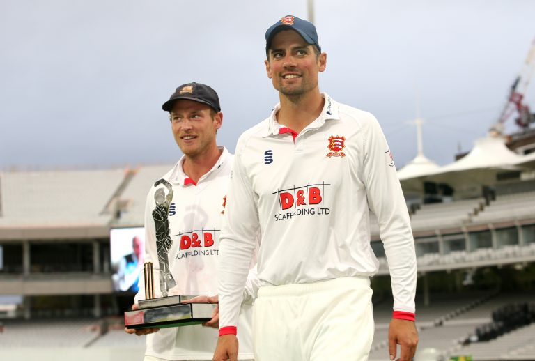 Sir Alastair Cook, right, helped Essex win the Bob Willis Trophy last year (Steven Paston/PA)