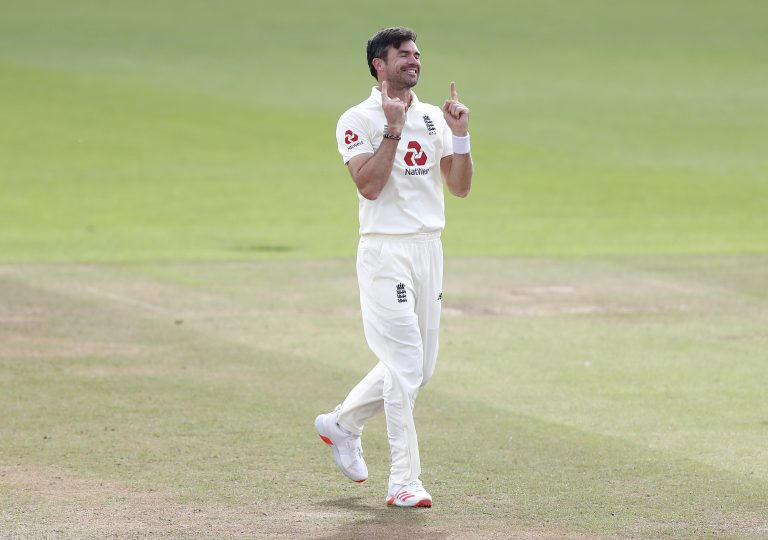 England's record wicket-taker James Anderson, pictured, has been a useful sounding board for Porter (Alastair Grant/PA)