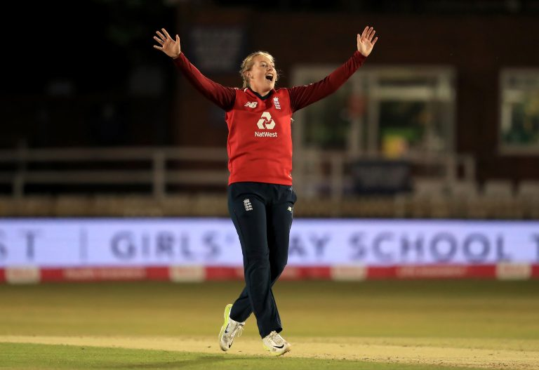 England's Sophie Ecclestone rose to the top of the IT20 bowling rankings in March