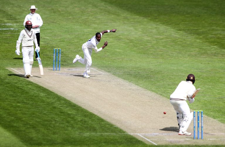 Jofra Archer bowled competitively for the first time since finger surgery in late March (Kieran Cleeves/PA)