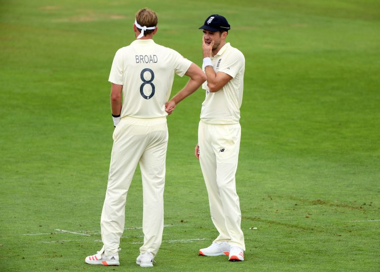 Broad (left) is hoping to share the new ball with James Anderson (right) against New Zealand.