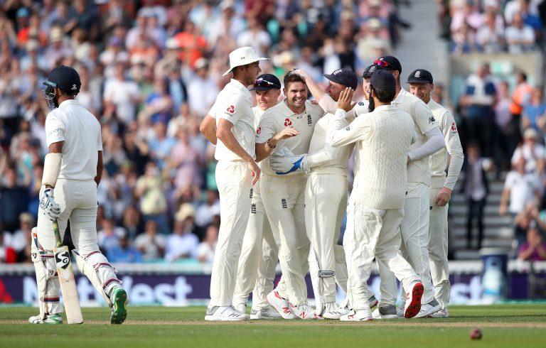 England celebrate against India