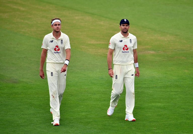 Stuart Broad, left, and James Anderson have in excess of 1,100 Test wickets between them (Glyn Kirk/PA)