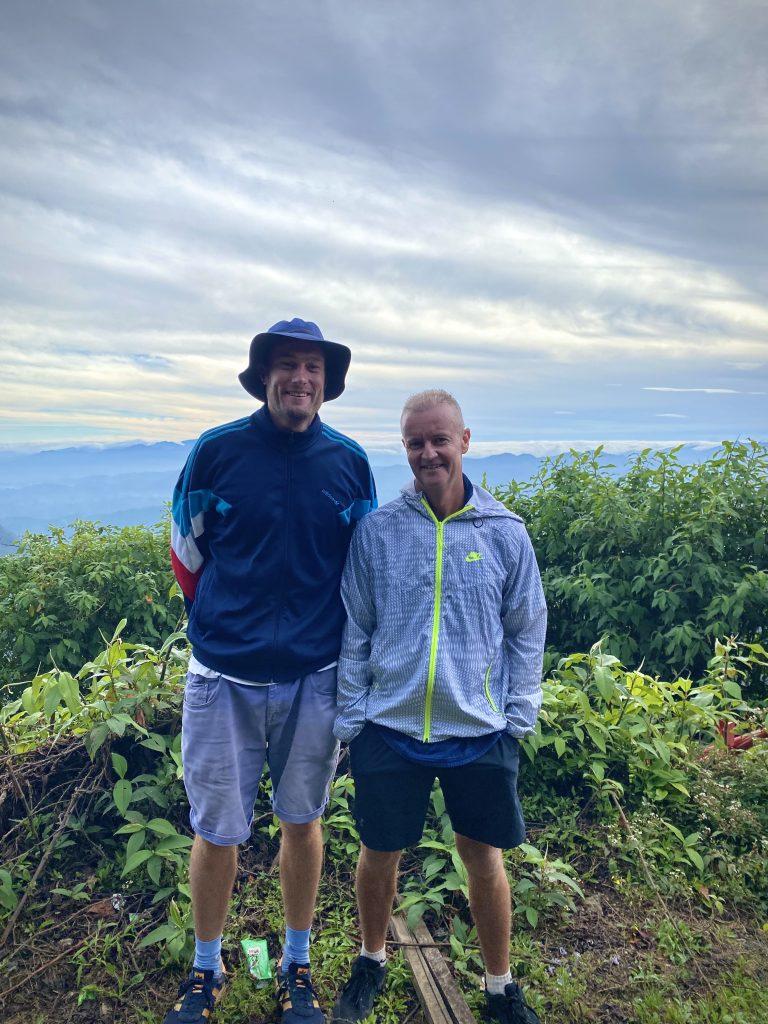 Rob Lewis and Grant Flower at Adam's Peak