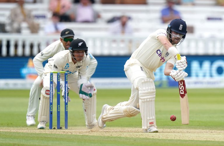 Rory Burns bats against New Zealand at Lord's