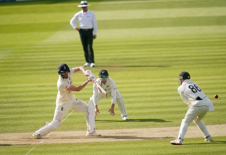 Dom Sibley, left, impressed for England (Adam Davy/PA)