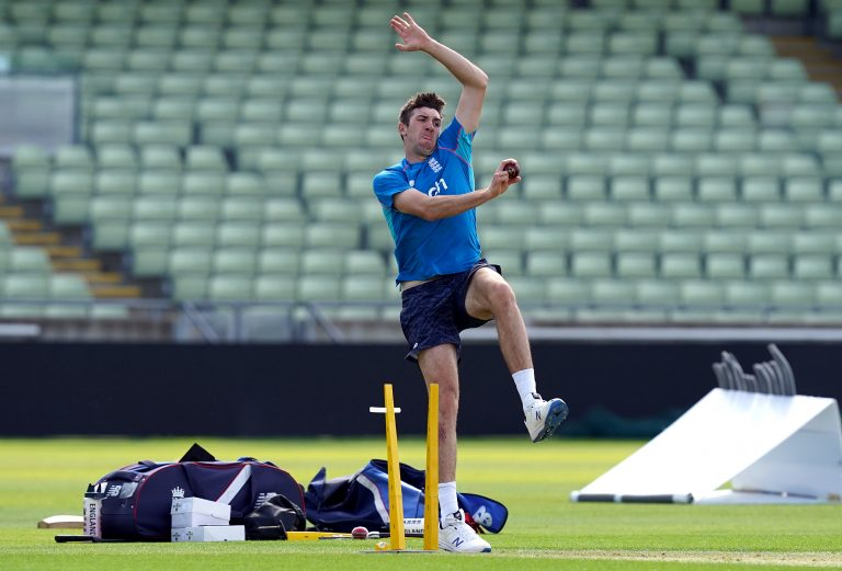Craig Overton is vying with Somerset team-mate Jack Leach for a place this week.