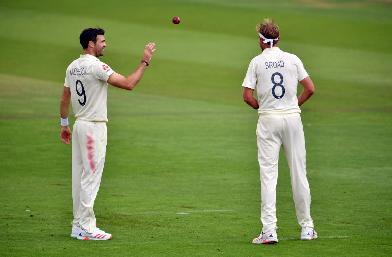 James Anderson, left, and Stuart Broad
