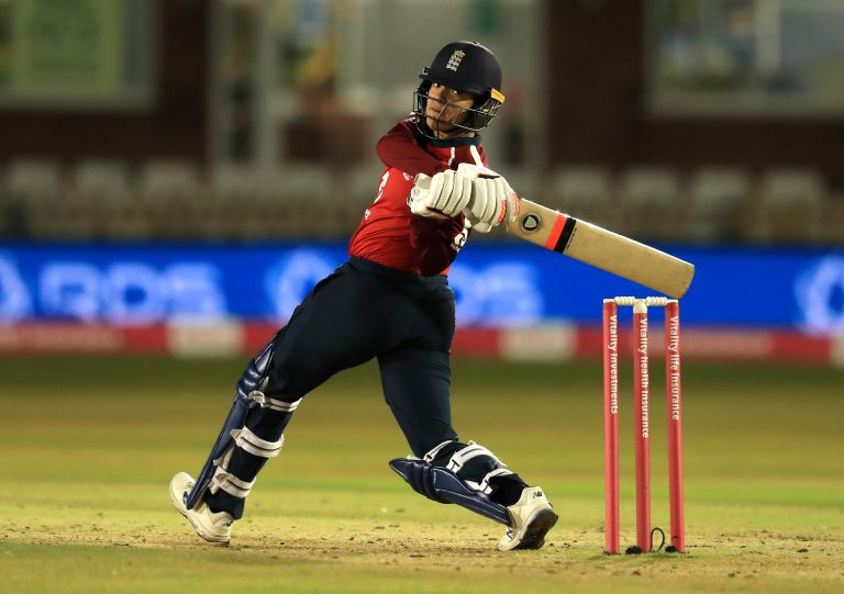 Dunkley became the first black woman to play Test cricket for England in Bristol