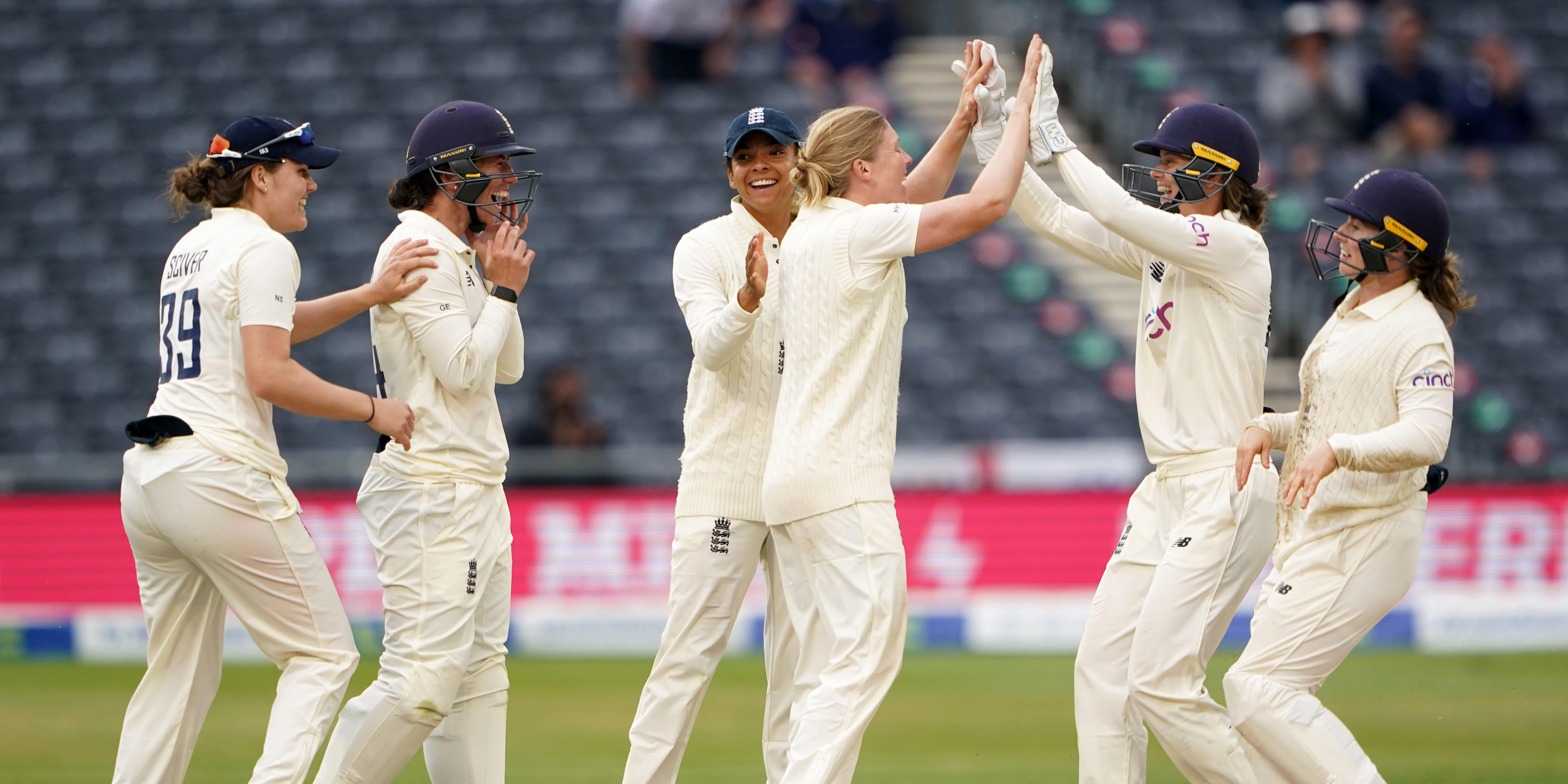 England Women boosted by late flurry of wickets on day two against India
