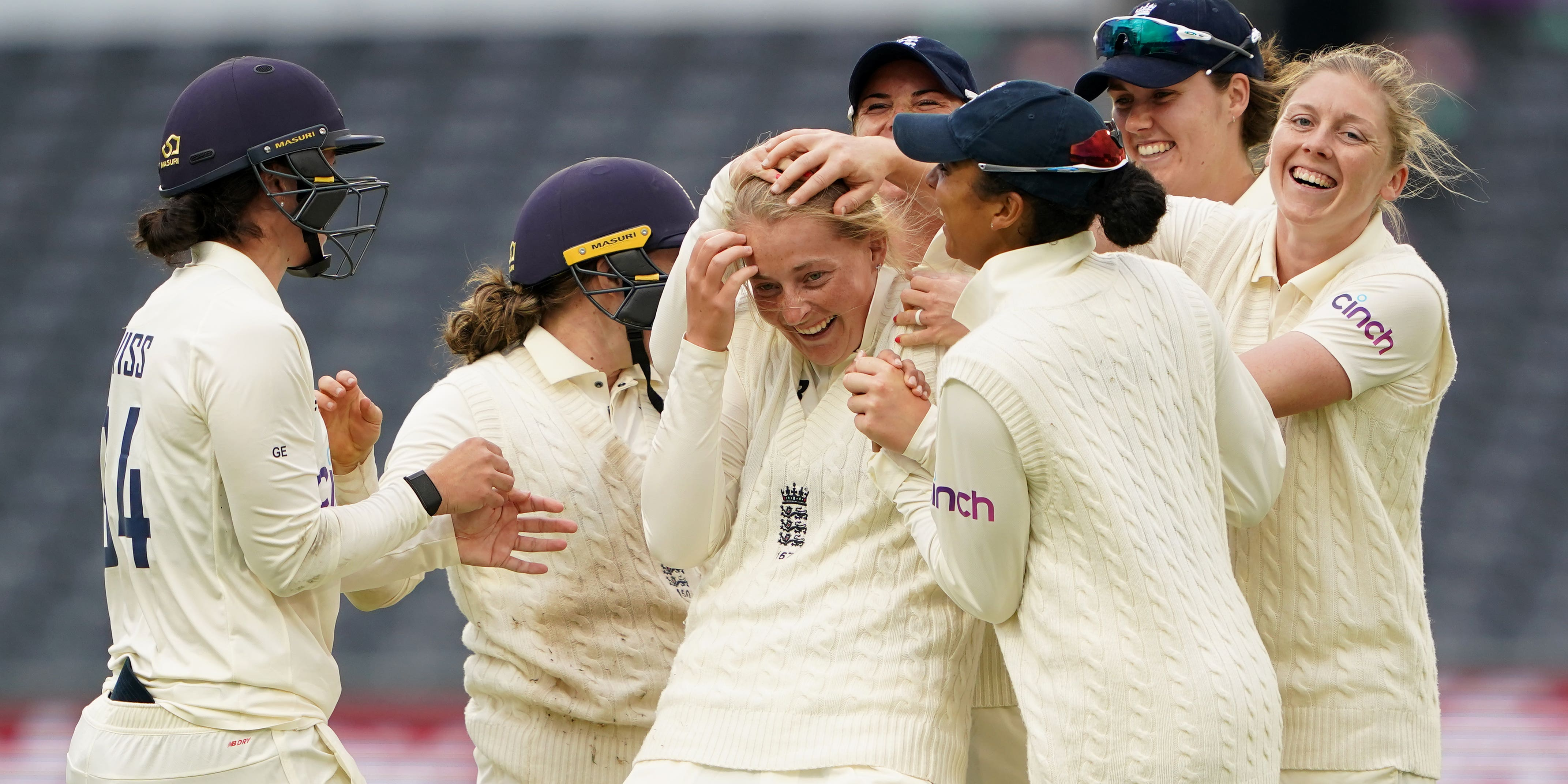England v India day two: Late wickets put Heather Knight's side in charge