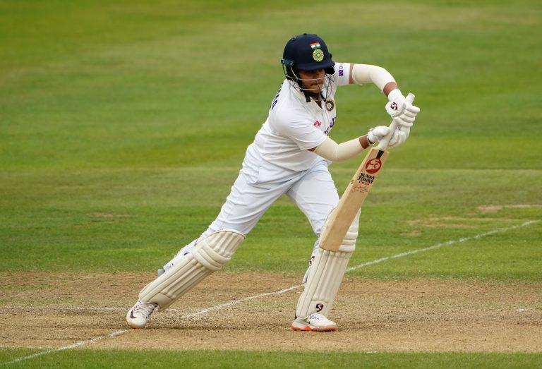 Shafali Verma scored her second Test half-century before the rain delay