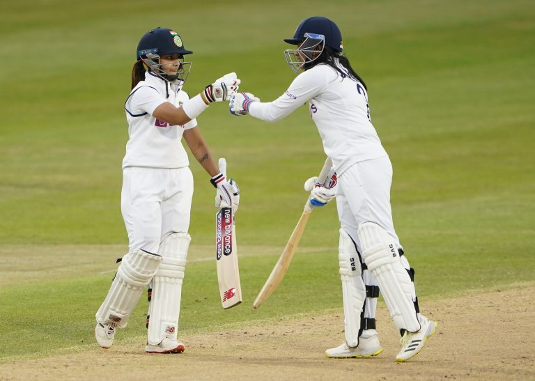 England's hopes were crushed by the brilliant unbroken stand between Rana and Bhatia