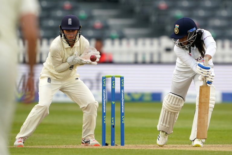 Rana top-scored at number eight for India with an unbeaten 80 runs from 154 balls