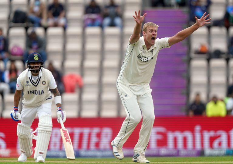 Kyle Jamieson took the prized wicket of Virat Kohli on day three