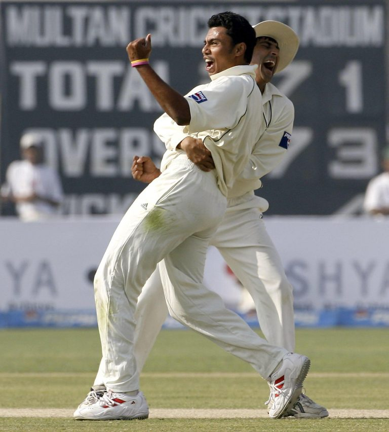 Pakistan's Danish Kaneria had career-best match figures of 12 for 94 against Bangladesh in 2001 (Gareth Copley/PA)