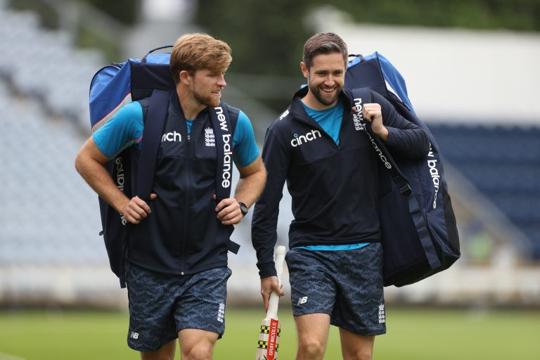 David Willey, left, and Chris Woakes are back in England's T20 squad (Bradley Collyer/PA)