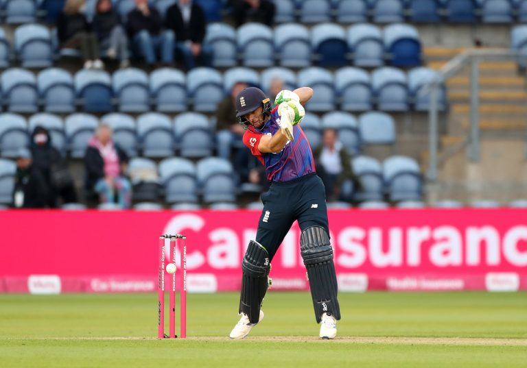 Jos Buttler registered his ninth fifty in 20 innings as a Twenty20 opener for England (David Davies/PA)