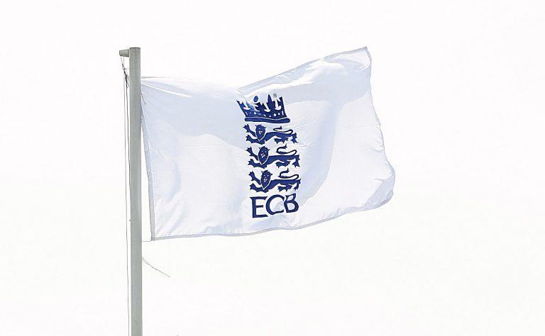 An ECB flag flies
