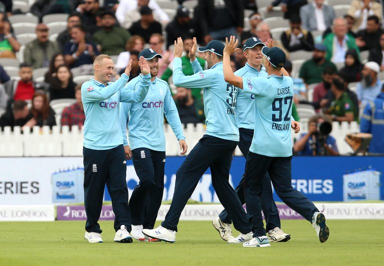 Parkinson (left) has been in the thick of England's white-ball summer.