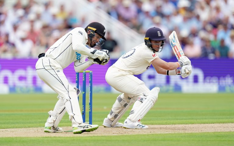 Pope, right, made a total of 84 runs in four innings during the Test series against New Zealand