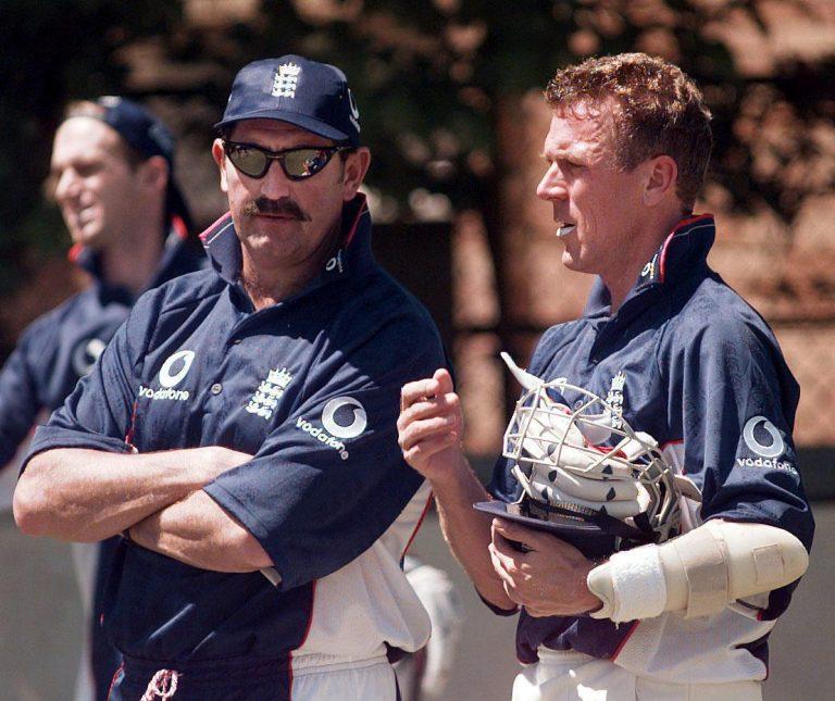 Graham Gooch, left, and Alec Stewart