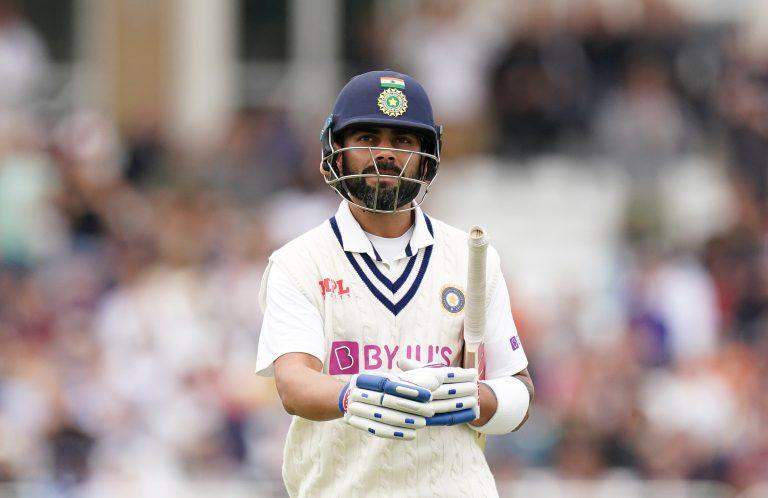 India's Virat Kohli walks off dejected