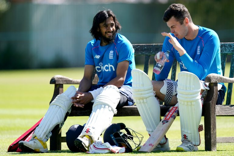 Haseeb Hameed, left, and Dom Sibley