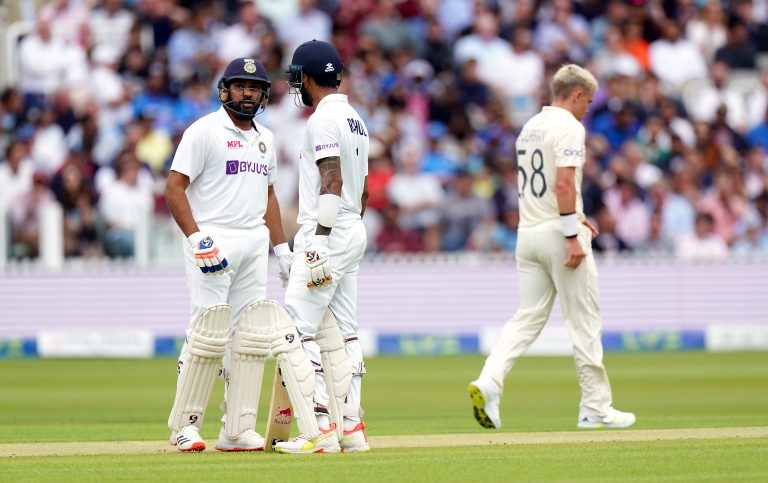 Rohit Sharma and KL Rahul reached lunch unscathed
