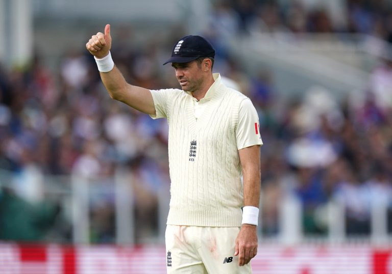 James Anderson overcame fitness concerns to take his place in the side