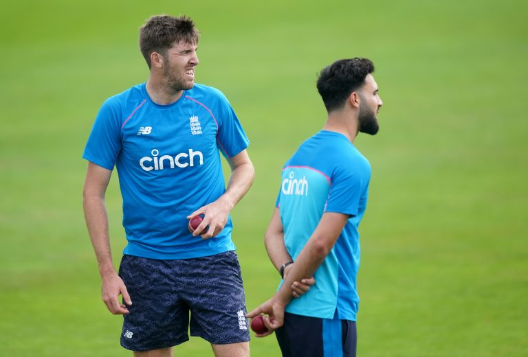 Craig Overton (left) and Saqib Mahmood (right) are vying for one place in the team.