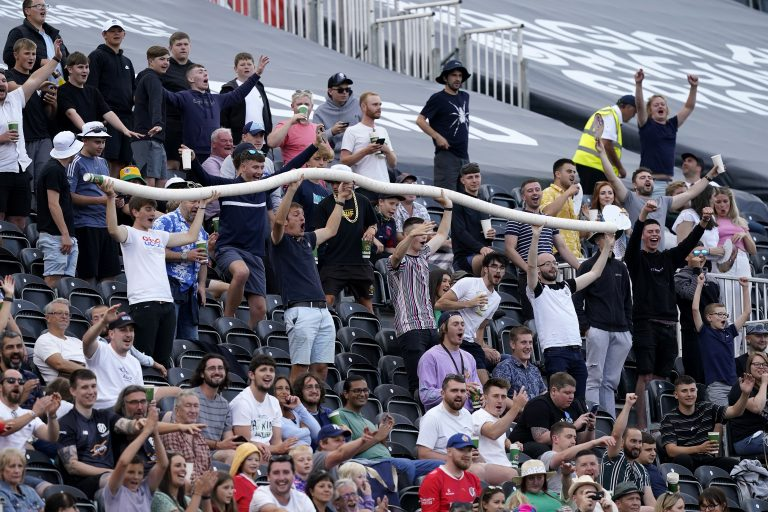 There has been some bemusement at some of the crowd behaviour (Nick Potts/PA)