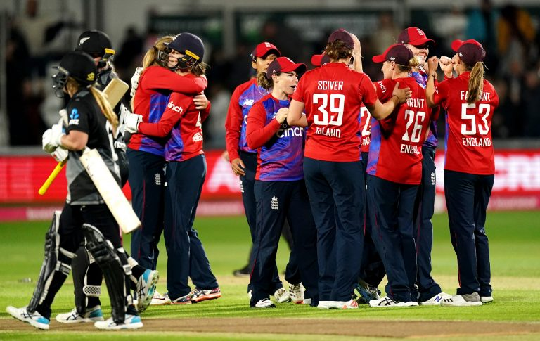 England celebrate their win