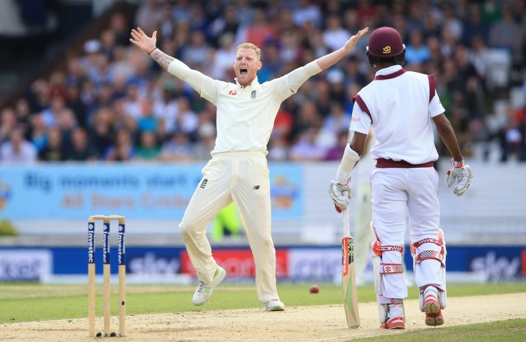 Ben Stokes appeals for a wicket