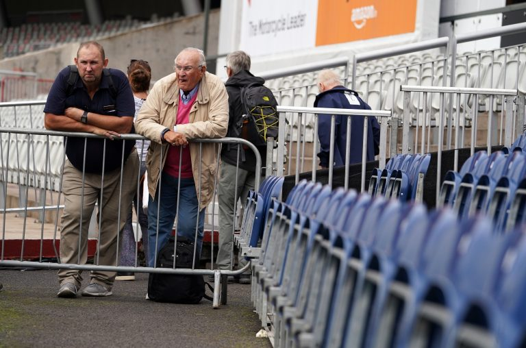 Fans were forced to look out at an empty stadium