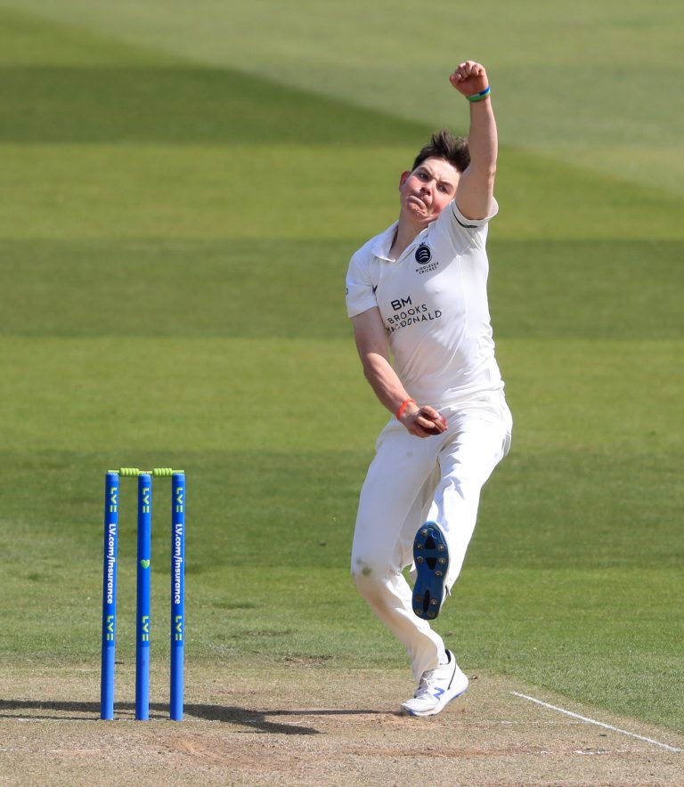 Ethan Bamber was in fine form for Middlesex.