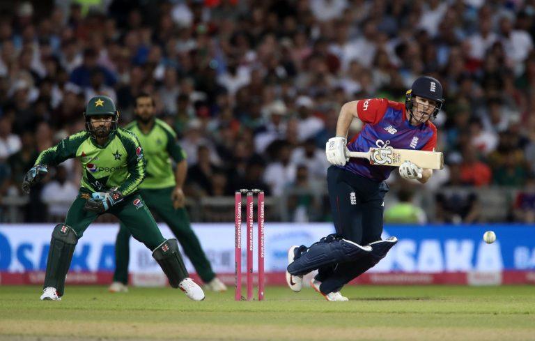 England's Eoin Morgan during a Twenty20 International match against Pakistan