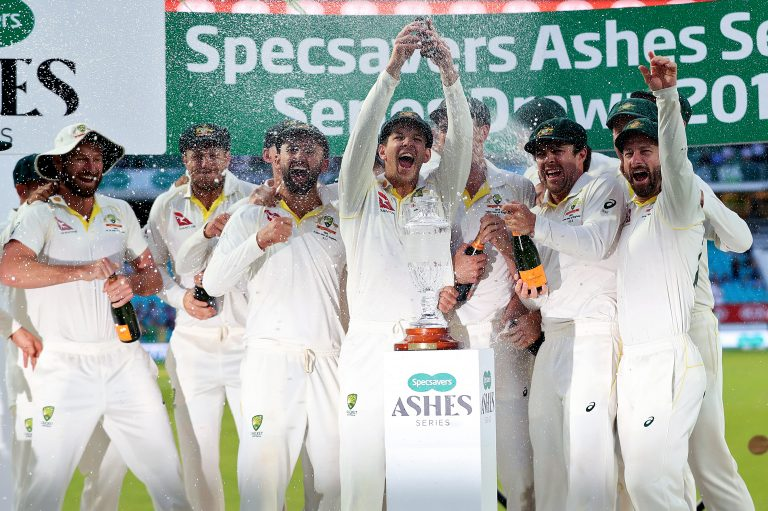 Australia retained the urn following a 2-2 series draw in England in 2019 (Mike Egerton/PA)